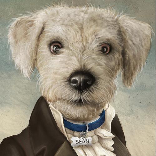 Vintage Portrait-Dog