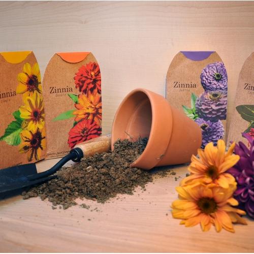 Zinnia Seed Packaging