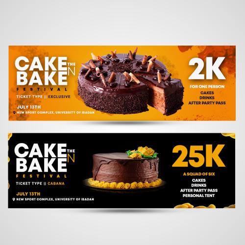 Ticket design for CAKE N BAKE FEST