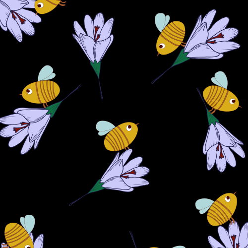 Safran and bees pattern