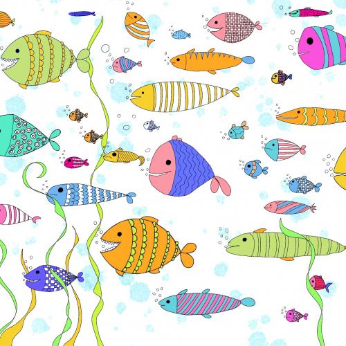 pattern aquarium, funny fishes
