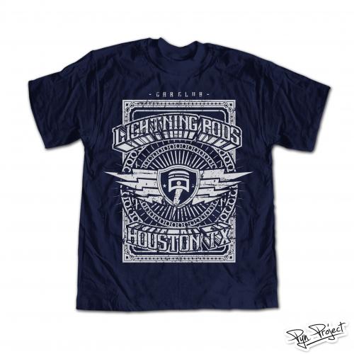 T-shirt Design for Lightning Rods Car Club