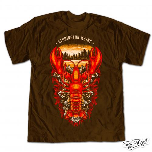 Maine Lobster T-Shirt Design