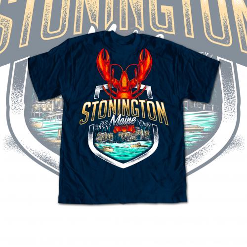 Lobster Theme T-shirt Design