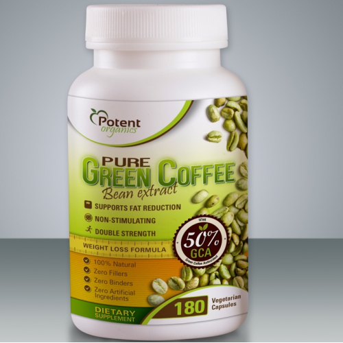 product label for Potent Organics Inc