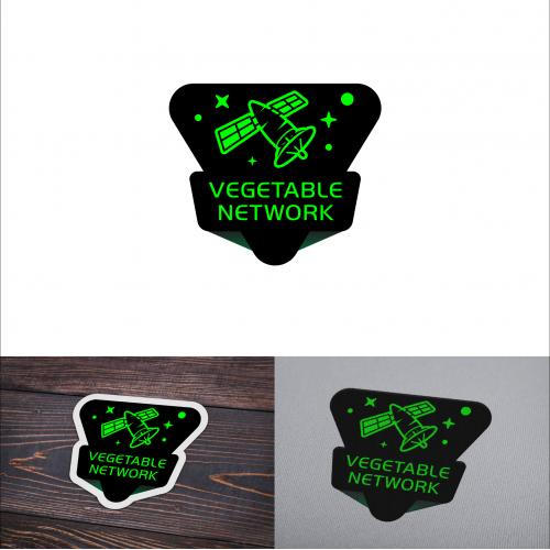 Vegetable Network Sticker Logo Desain