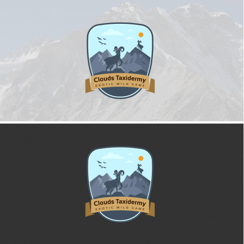 Clouds Taxidermy Logo Design