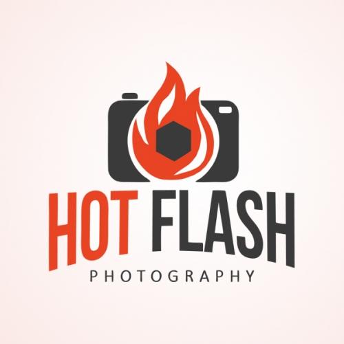 Hot flash logo design