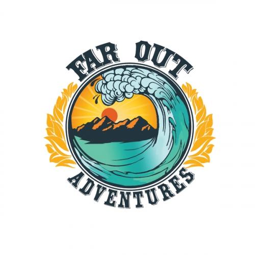 Far out adventure logo design