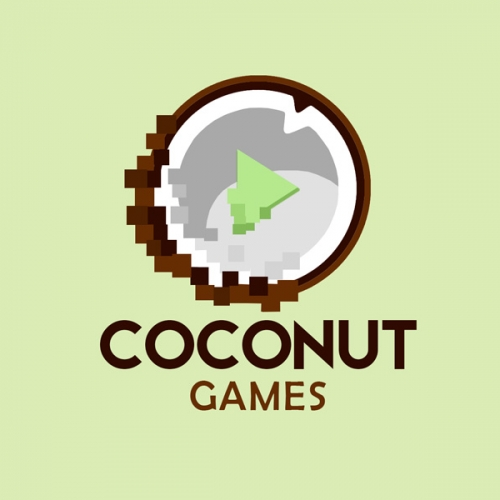 Coconut games logo design