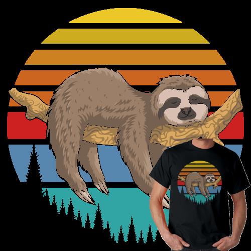 Lazzy Sloth Retro