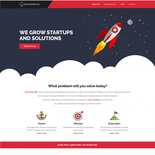 Website design for a company investigating business
