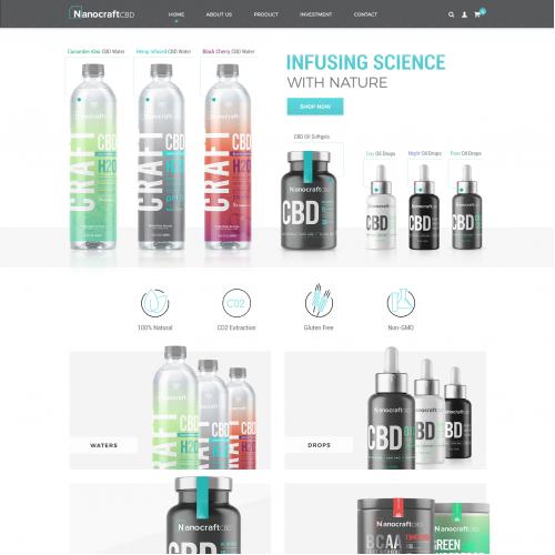 Website Design for premium CBD infused products