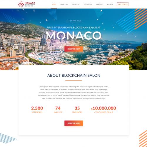Webpage Design for International Blockchain Conference