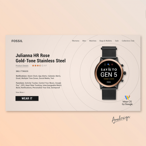 Fossil Landing Page Redesign