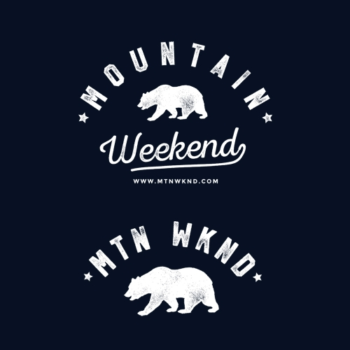 Tshirt design for MOUNTAIN WEEKEND