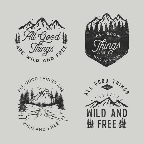 Tshirt design for outdoorsy brand
