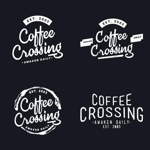 Design Tshirt and logo for Coffee Crossing