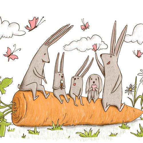family of rabbits