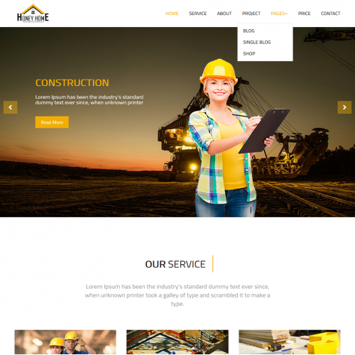 HoneyHome web design