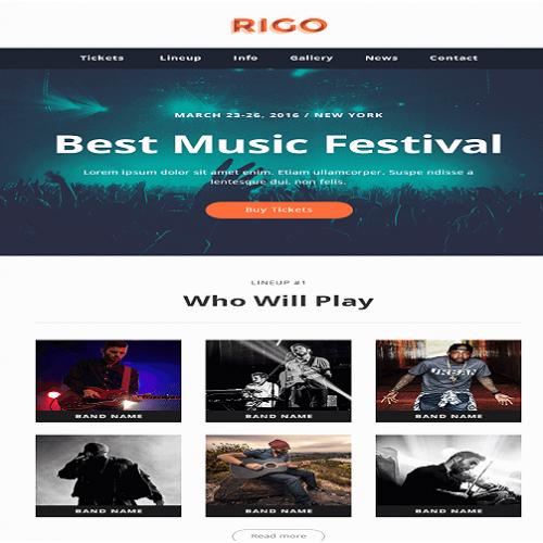Rigo theme FrontPage Design