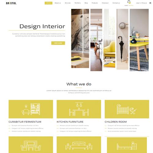 Bristol WordPress theme Front look design