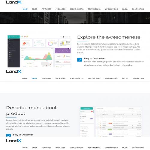 LandX Website Design
