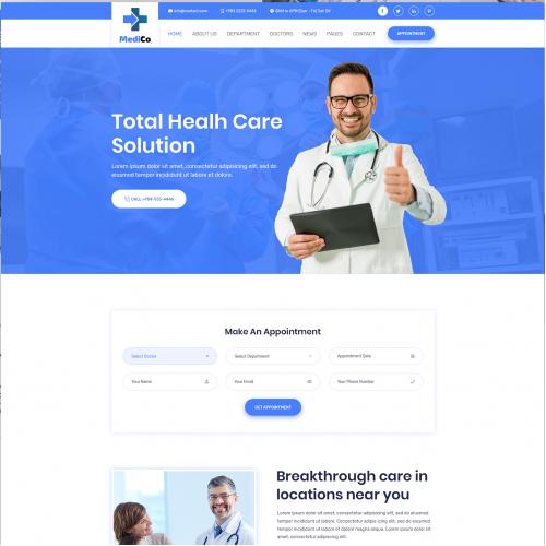 Health Medical Clinic Website