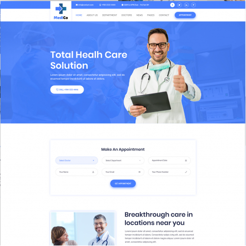 Health Medical Clinic Website