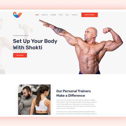 Gym and Fitness Website Design