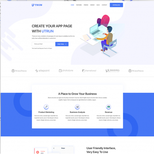 Software, App Landing page