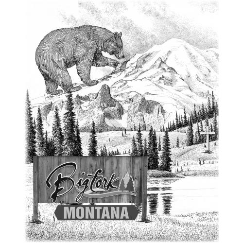 BigFork Montana T-shirt Design