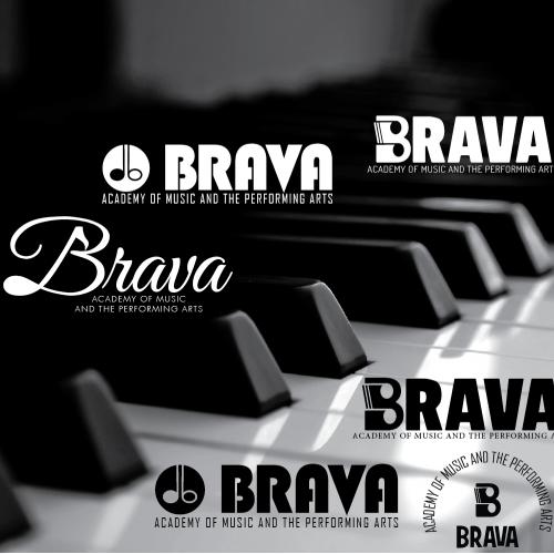 Brava Academy Logo Design
