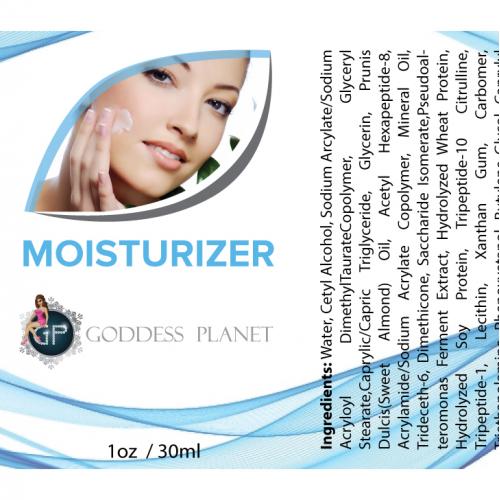 Moisturizer Label