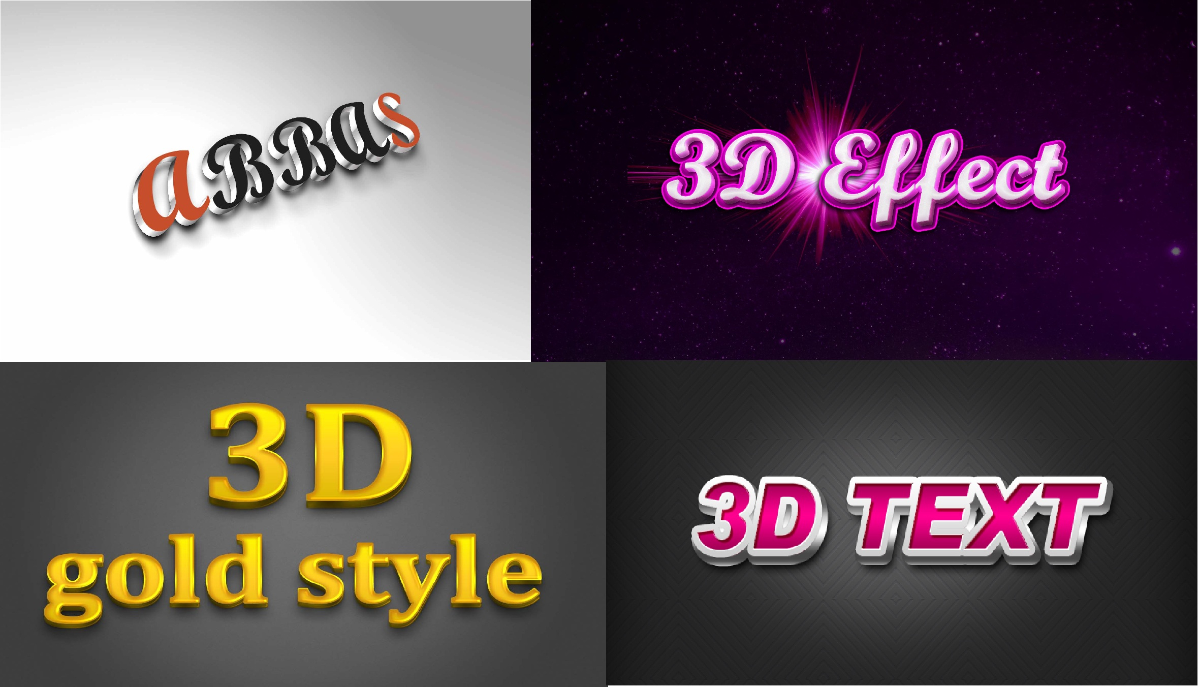 3D Effect Of your Logo