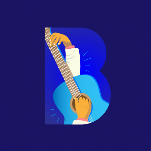 B for Blues. 36 Days of Type series 2019