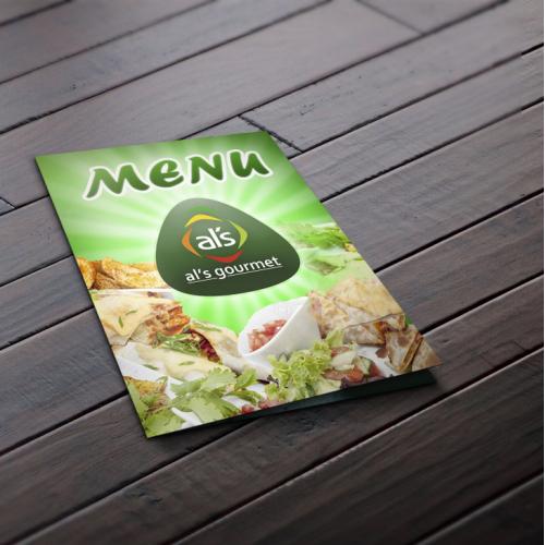Menu  for company al\'s gourmet