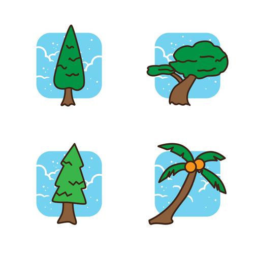 Tree Icon Set