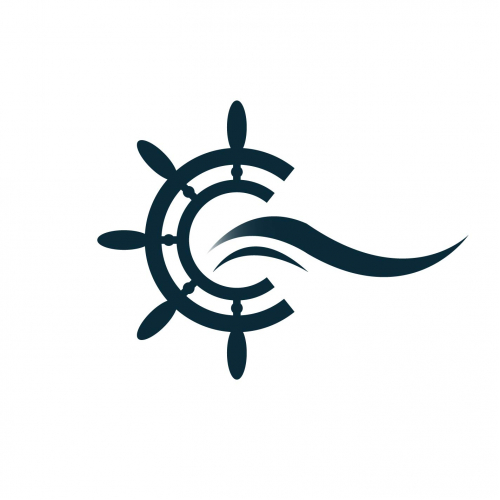 Logo for the sea travel business.