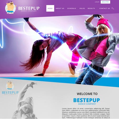 Dance Company Web Design