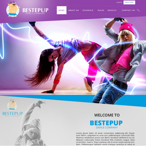 Dance Company Web Design