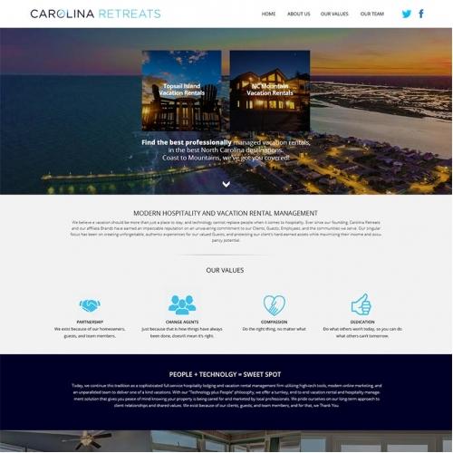 Web design for a Retreat house
