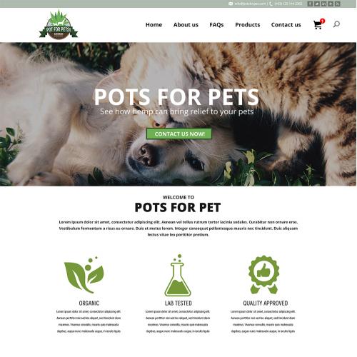 Pots pet Web Design