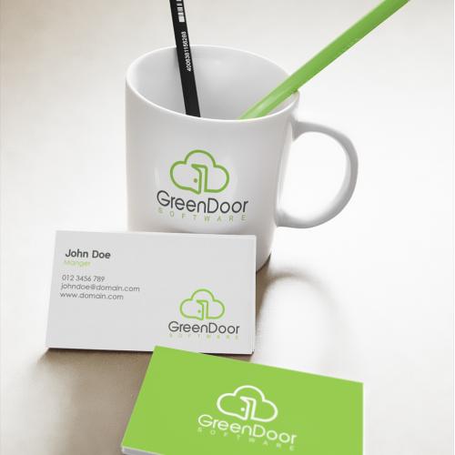 Green Door logo and Business card