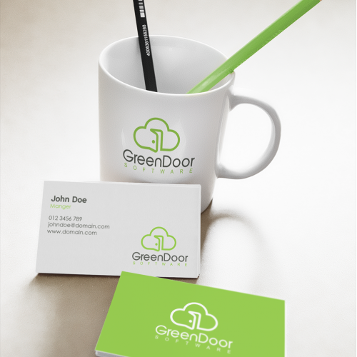 Green Door logo and Business card