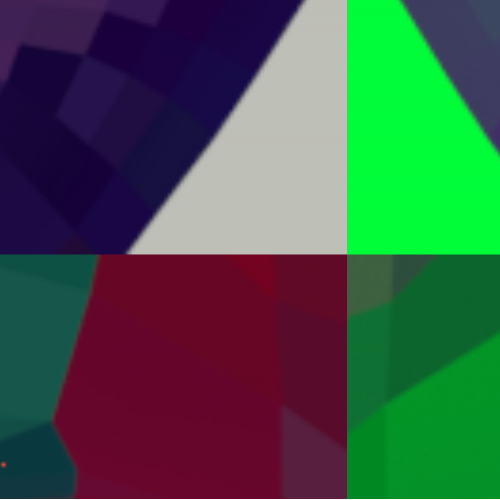 Low poly face abstraction