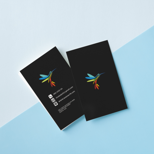 simple logos and business cards for colibri birds