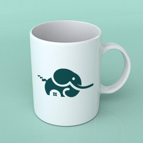 Elephant design cup