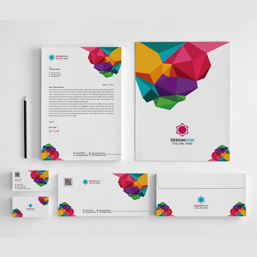 Colorful Branding Stationery Design