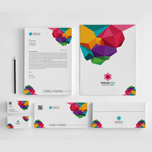 Colorful Branding Stationery Design